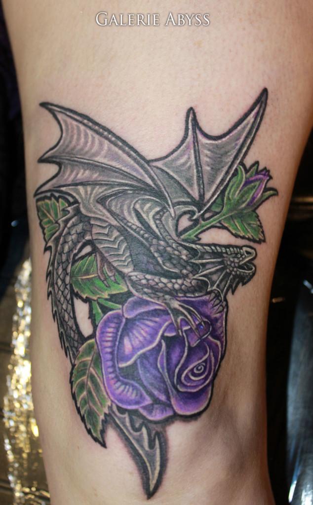 dragon rose knee tattoo tattoo abyss rh tattooabyss com tattoo dragon rose dragon rose tattoo meaning