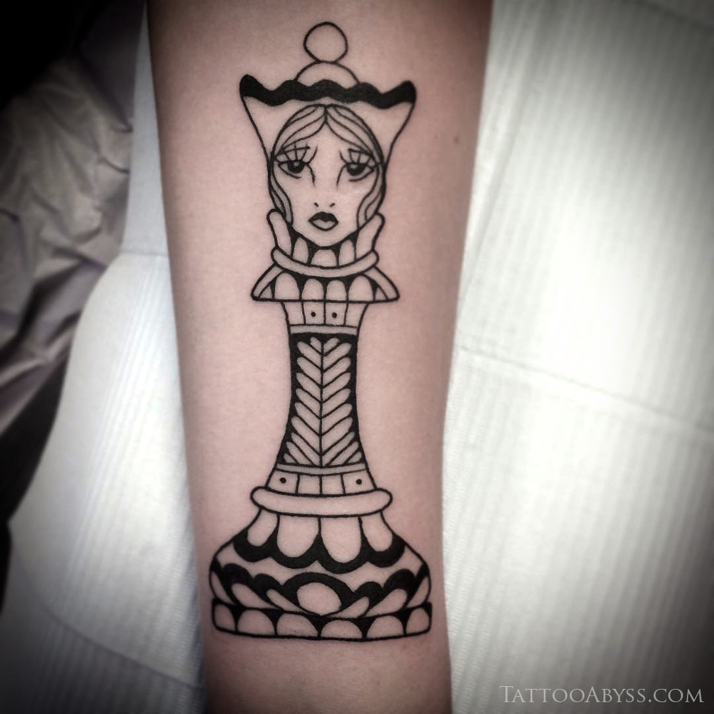 Queen Chess Piece Tattoo Tattoo Abyss