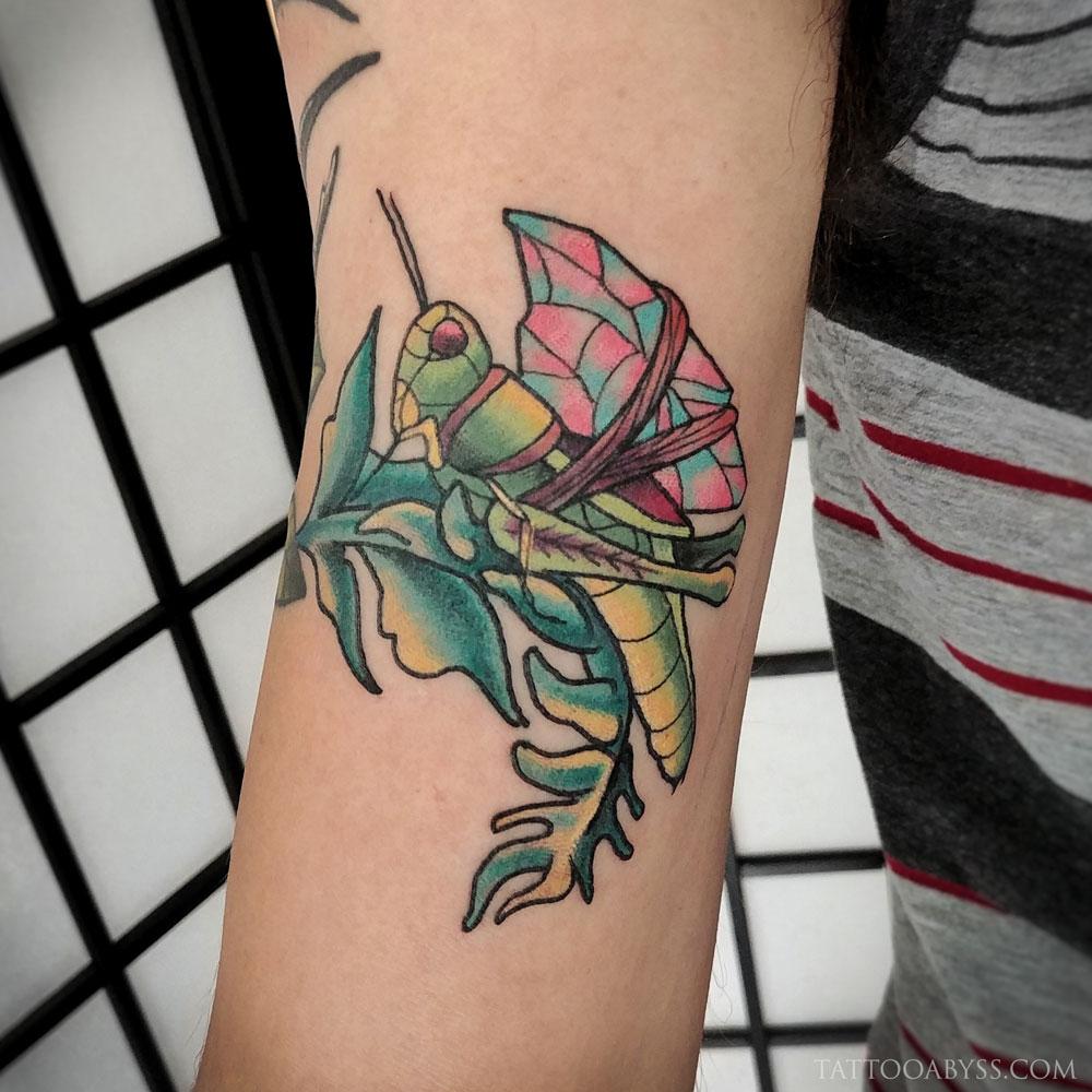 Praying Mantis Tattoo Abyss Montreal