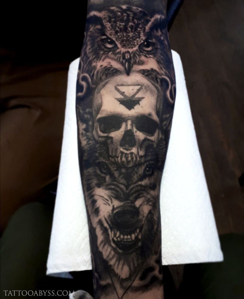 owl-skull-wolf-loudevick-tattoo-abyss