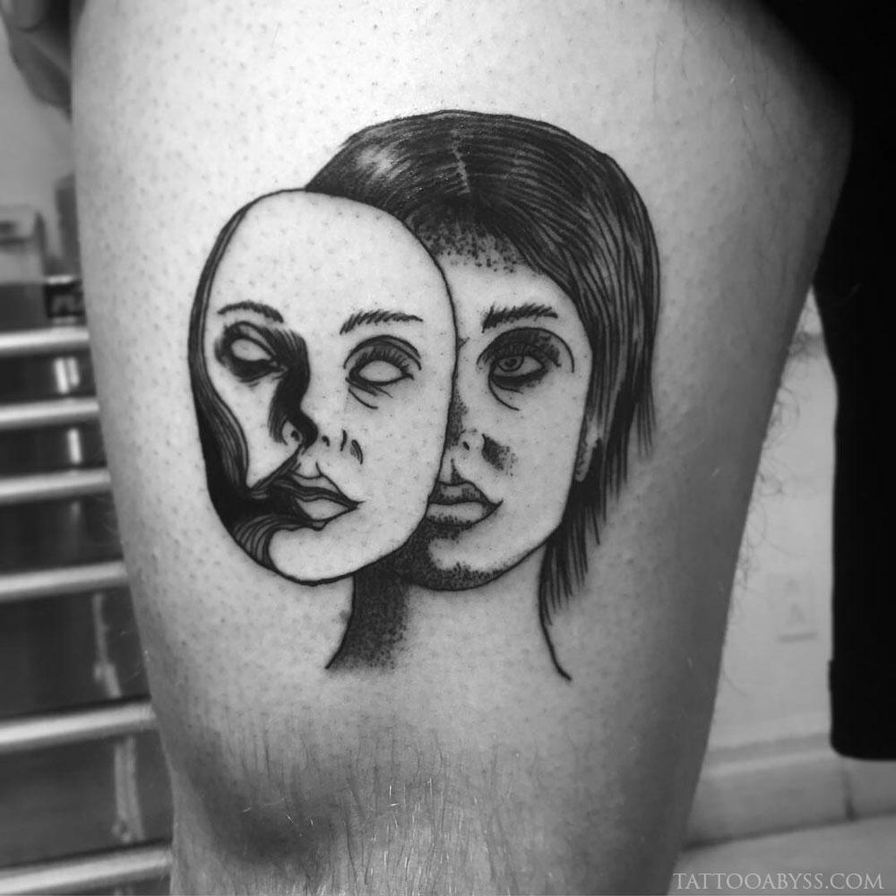 masked-woman-angel-tattoo-abyss