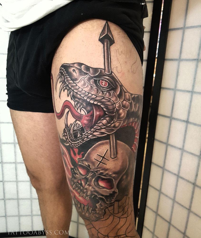 snake-skull-in-progress-abby-tattoo-abyss