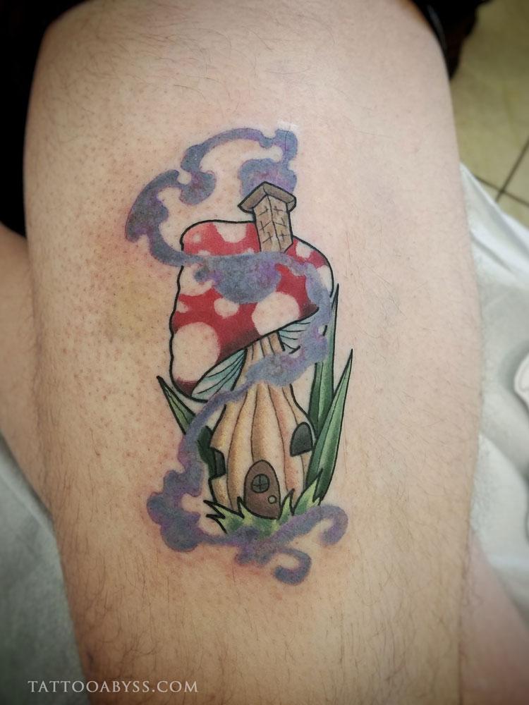 mushroom-hut-devin-tattoo-abyss